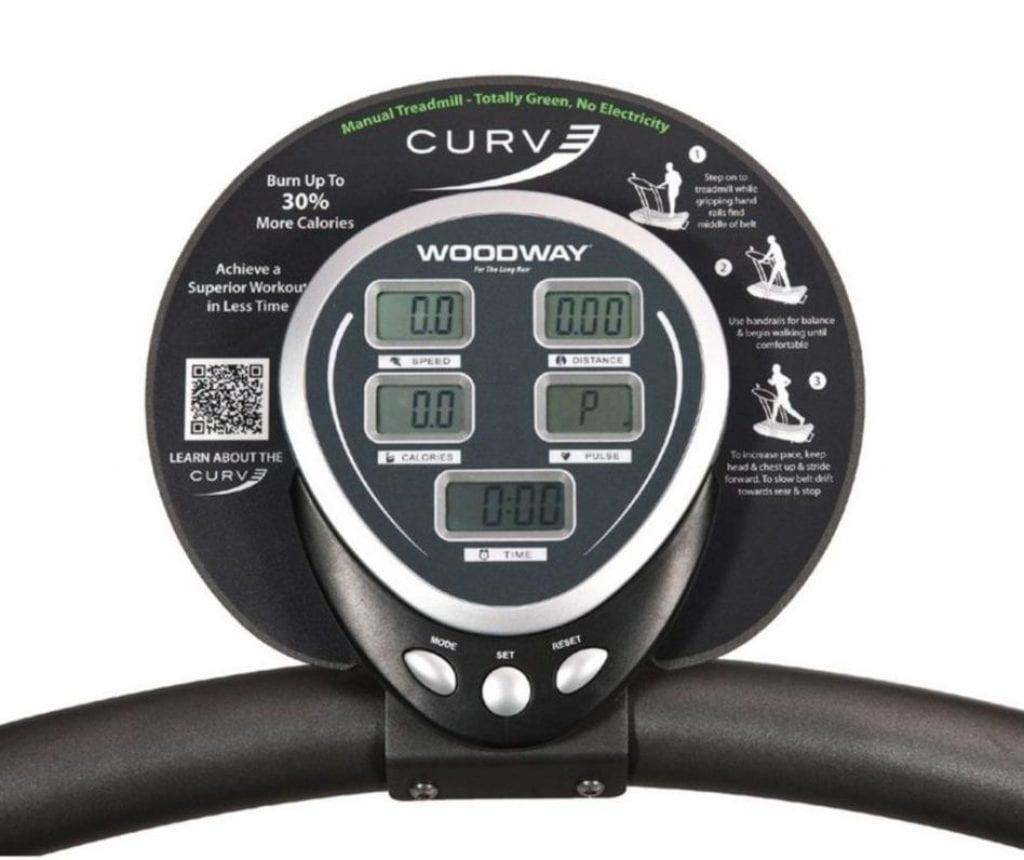 curve treadmill display