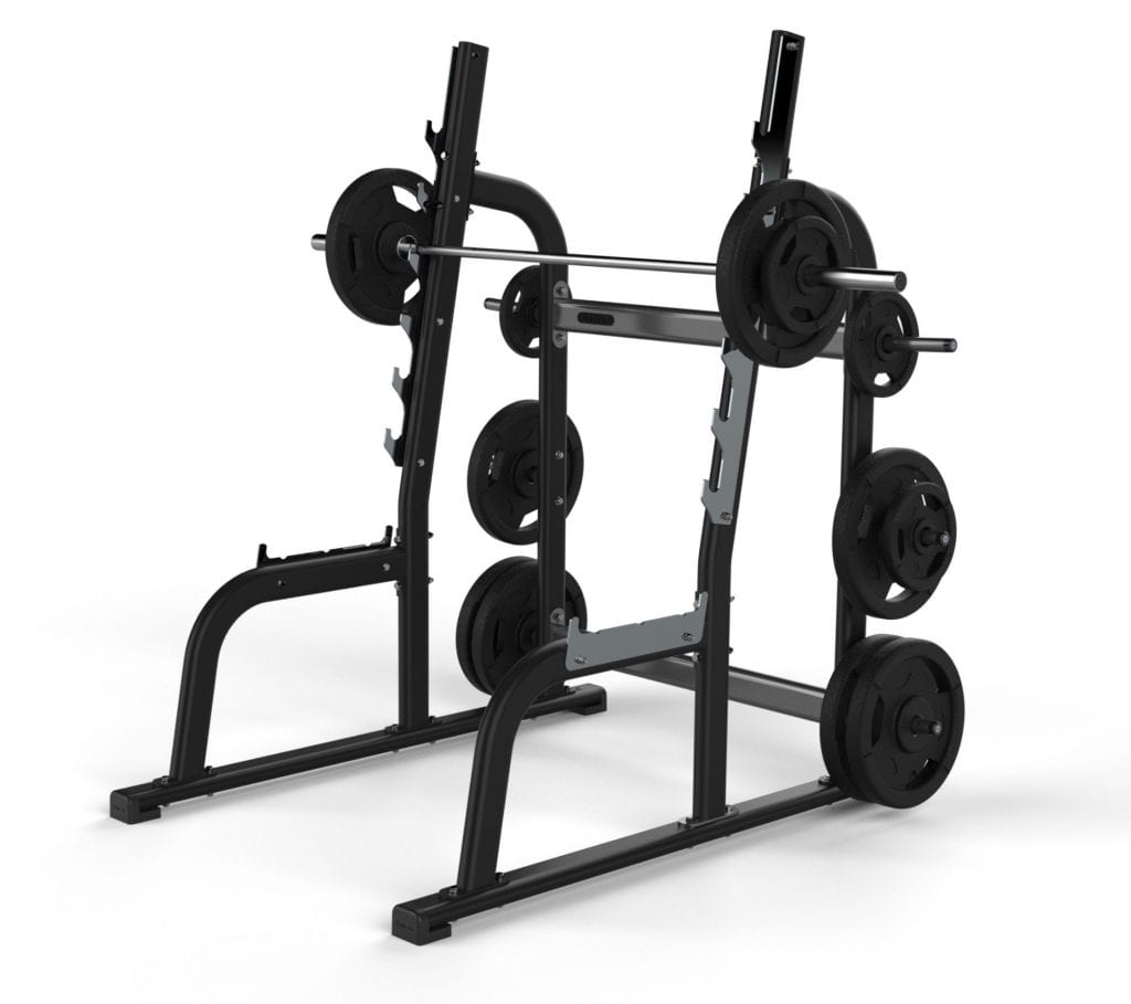 squat rack with weights