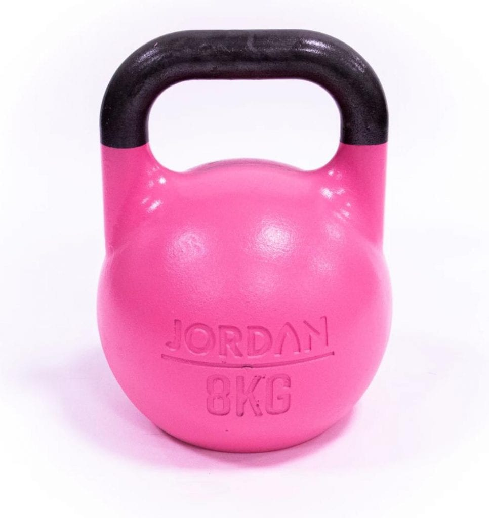 pink competition kettlebell