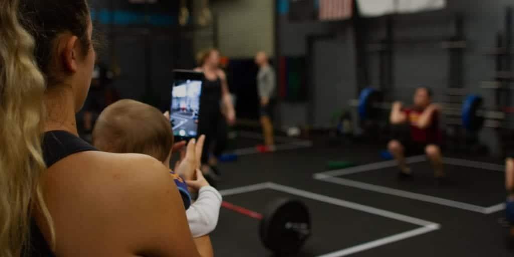family gym session
