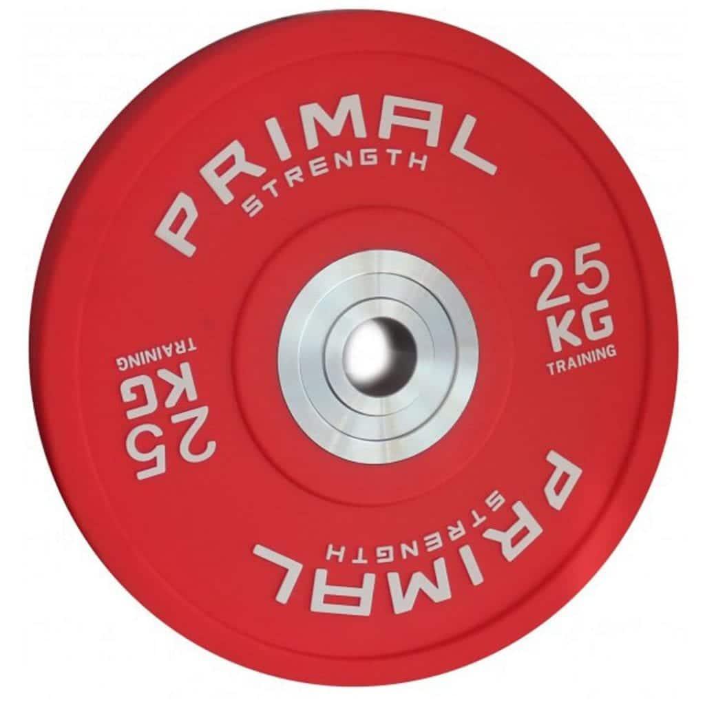 red bumper plate